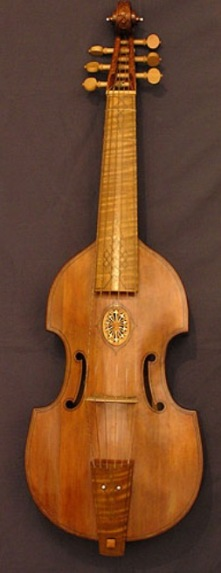 Exquisite work of a 17th century Viol da Gamba